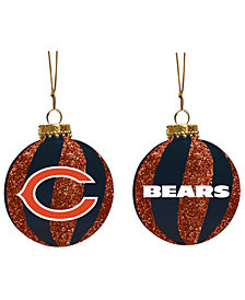 "Memory Company Chicago Bears 3"" Sparkle Glass Ball"