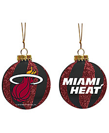 "Memory Company Miami Heat 3"" Sparkle Glass Ball"