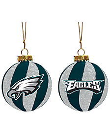 "Memory Company Philadelphia Eagles 3"" Sparkle Glass Ball"