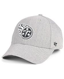 '47 Brand Tennessee Titans Heathered Black White MVP Adjustable Cap