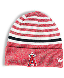 New Era Los Angeles Angels Striped Cuff Knit Hat