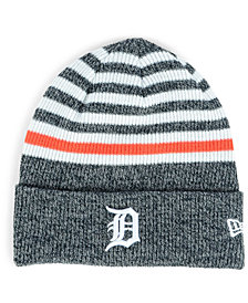 New Era Detroit Tigers Striped Cuff Knit Hat