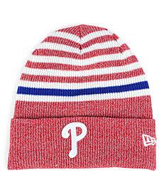 New Era Philadelphia Phillies Striped Cuff Knit Hat