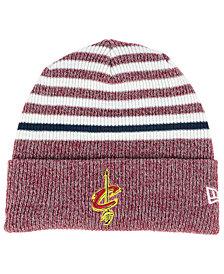 New Era Cleveland Cavaliers Striped Cuff Knit Hat