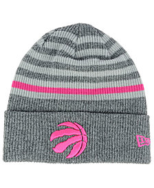 New Era Toronto Raptors Striped Cuff Knit Hat