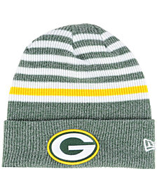 New Era Green Bay Packers Striped2 Cuff Knit Hat