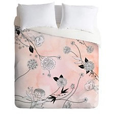 Deny Designs Iveta Abolina Coral Dust Queen Duvet Set