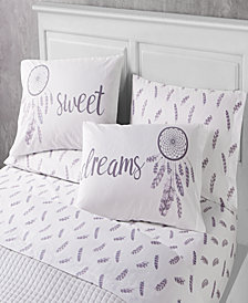 Sweet Sleep 6 Piece Queen Size Microfiber Sheet Set With Novelty Pillowcases