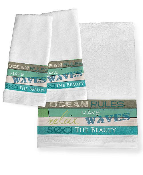Laural Home Ocean Rules Bath Towel