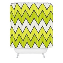 Deny Designs Holli Zollinger Lime Chevron Ombre Shower Curtain