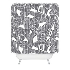 Heather Dutton Fragmented Grey Shower Curtain
