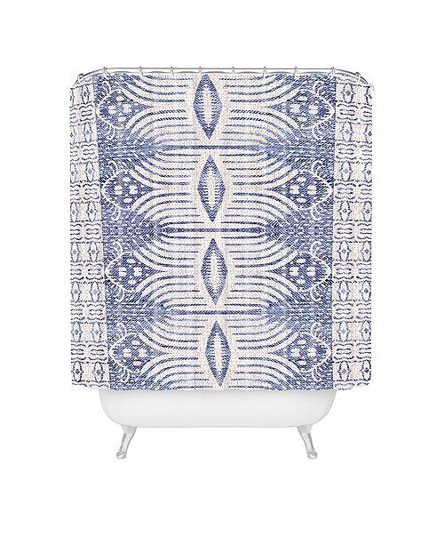Deny Designs Holli Zollinger French Linen Tribal Ikat Shower Curtain