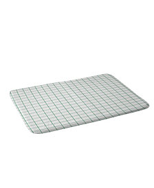 Deny Designs Holli Zollinger French Linen Grid Emerald Bath Mat