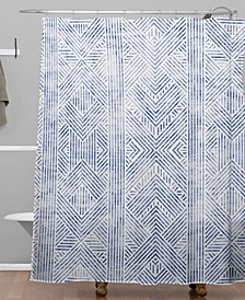 Holli Zollinger Amai Denim Shower Curtain
