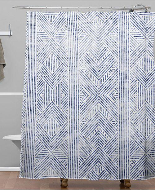 Holli Zollinger Amai Denim Shower Curtain