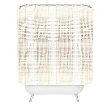 Holli Zollinger Deco Gold Shower Curtain