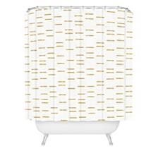 Deny Designs Holli Zollinger Ochre Line Shower Curtain