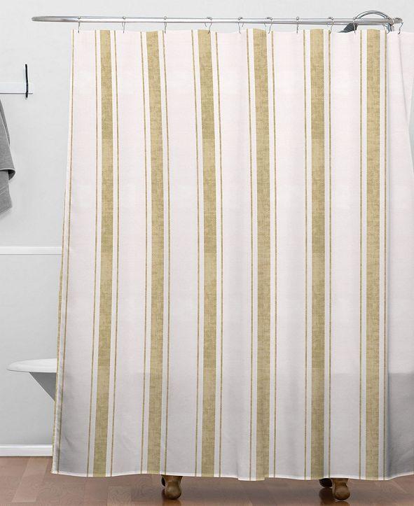 Deny Designs Holli Zollinger Aegean Jute Stripe Shower Curtain