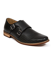 Deer Stags Men's Cyprus Perf Memory Foam Dress Casual Comfort Double Monk Strap Shoe