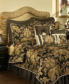 Austin Horn Classics Lismore Black 3-Piece Luxury Comforter Set