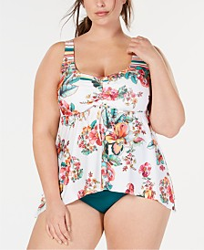 Becca ETC Plus Size Emma Tankini Top