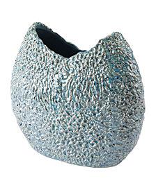 Crisp Round Vase Blue