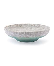 Azte Bowl Gray & Teal