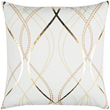 """Donny Osmond 14"""" x 26"""" Geometrical Design Poly Filled Pillow"""