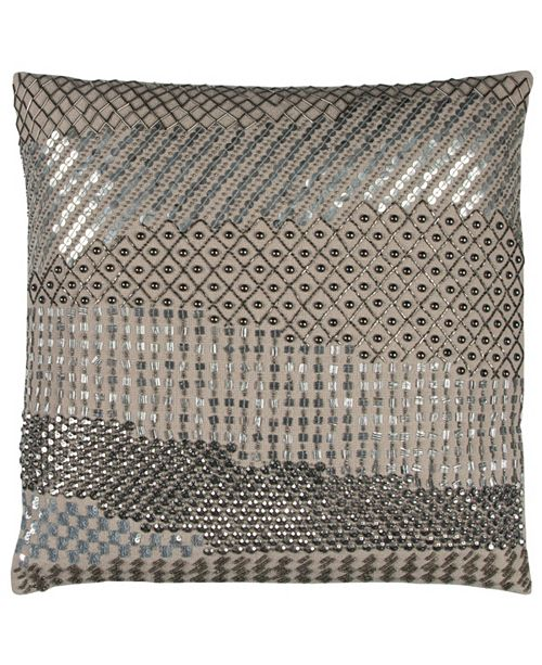 """Rizzy Home Donny Osmond 20"""" x 20"""" Geometric Disco Design Poly Filled Pillow"""