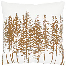 "Rizzy Home Brown 18"" X 18"" Trees In A Line Poly Filled Pillow"