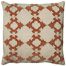 """Rizzy Home 18"""" x 18"""" Geometrical Design Poly Filled Pillow"""