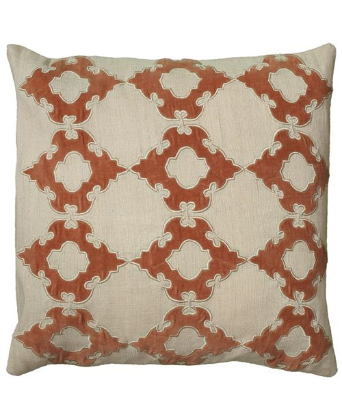 "Rizzy Home 18"" x 18"" Geometrical Design Pillow Collection"