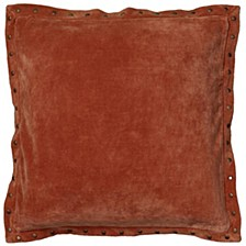 """Faux Suede Solid 18"""" x 18"""" Poly Filled Pillow"""