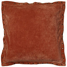 """Rizzy Home Solid 18"""" x 18"""" Poly Filled Pillow"""