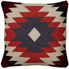 "18"" x 18"" Large Central Motiff Accents Poly Filled Pillow"