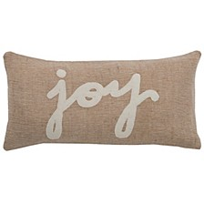 """11"""" x 21"""" Typography Poly Filled Pillow"""