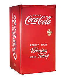 Nostalgia Coca-Cola 3.2-Cubic Foot Refrigerator