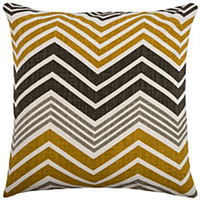 "Rizzy Home Yellow 18"" X 18"" Chevron Poly Filled Pillow"