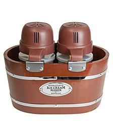 4-Quart Electric Double Flavor Ice Cream Maker