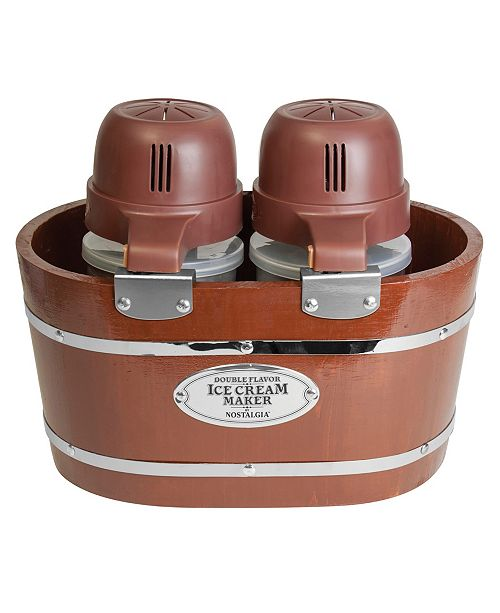 Nostalgia 4-Quart Electric Double Flavor Ice Cream Maker