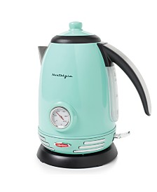 Nostalgia Retro Series 1.7-Liter Stainless Steel Electric Water Kettle, Aqua