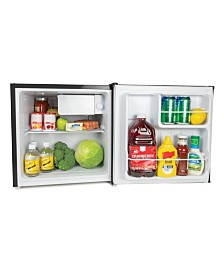 Igloo 1.6-Cu. Ft. Classic Refrigerator Freezer W- Chrome Handle & Bottle Opener, Black
