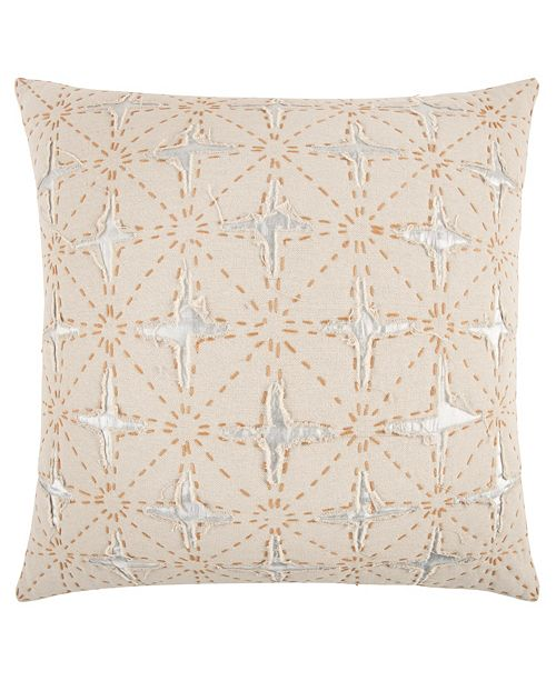 """Rizzy Home 24"""" x 24"""" Deconstructed Stripe Poly Filled Pillow"""