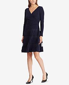 Lauren Ralph Lauren Tulle-Trim Jersey Dress
