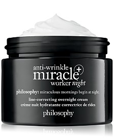 philosophy Anti-Wrinkle Miracle Worker+ Line-Correcting Overnight Cream, 2-oz.