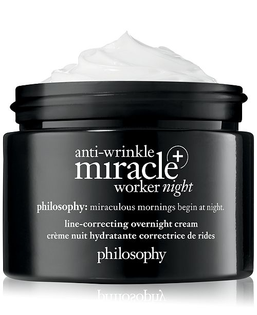 philosophy Anti-Wrinkle Miracle Worker+ Line-Correcting Overnight Cream, 2-oz.