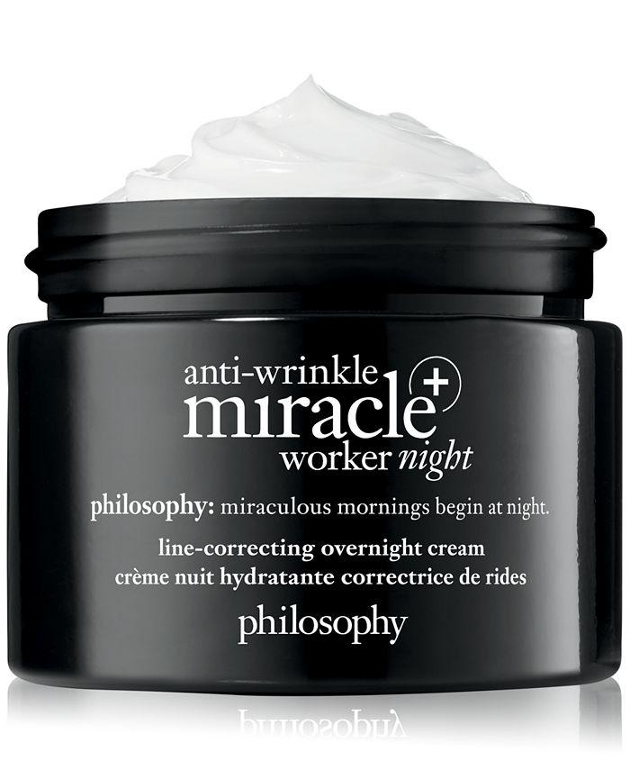 philosophy - Anti-Wrinkle Miracle Worker+ Line-Correcting Overnight Cream, 2-oz.
