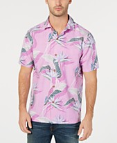 b4a9ca70 Tommy Bahama Men's South Pacific Paradise IslandZone Silk Hawaiian Shirt