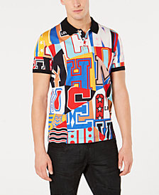 Moschino Men's Graphic Print Polo