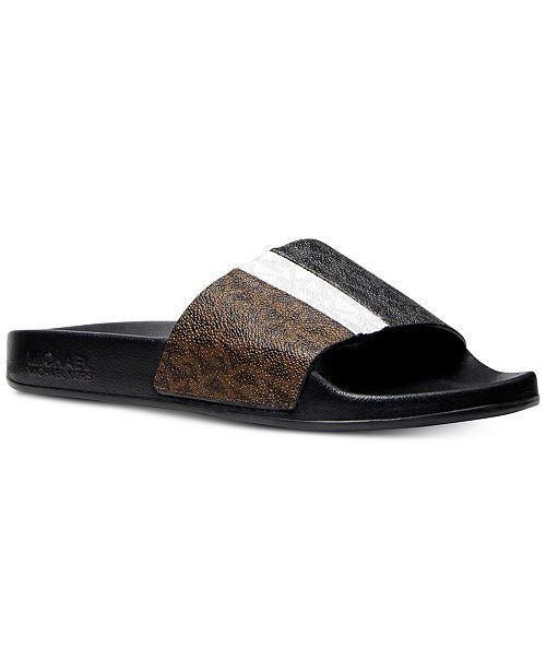 e6cafa95e0cf Michael Kors Ayla Pool Slide Sandals   Reviews - Sandals   Flip ...